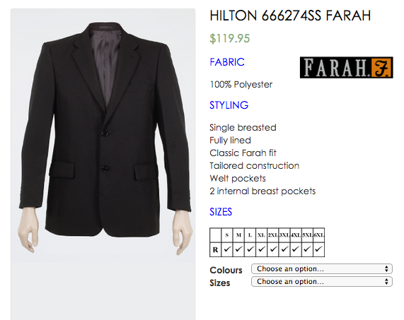 FARAH 2 Button Single Breast BUSINESS Suit JACKET and Trousers