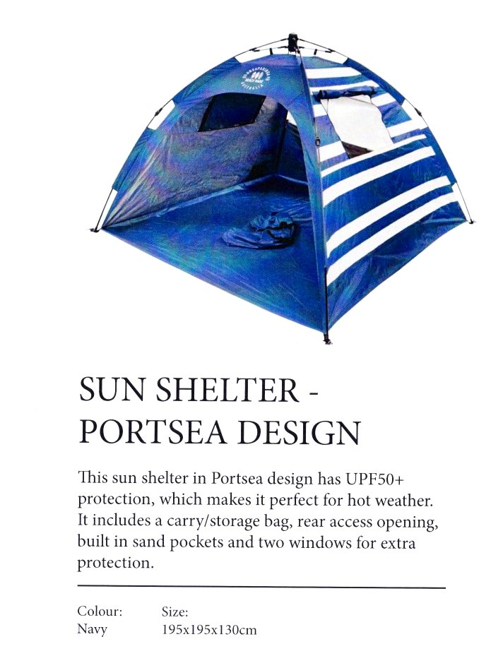DELUXE EXTRA LARGE PORTSEA BEACH TENT : $200