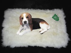DELUXE NATURAL EXTRA LARGE SHEEPSKIN BED & COMFORT RUGS FOR DOGS