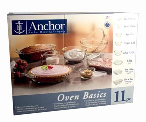 ANCHOR PYREX 11 PIECE COMPLETE DELUXE BAKESET: $85 FREE DELIVERY