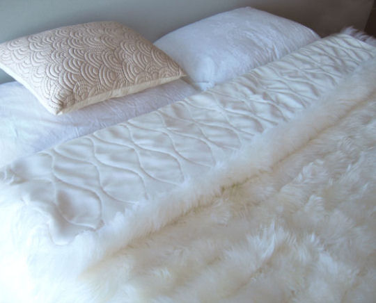 DELUXE SHEEPSKIN BED COVERS:$485