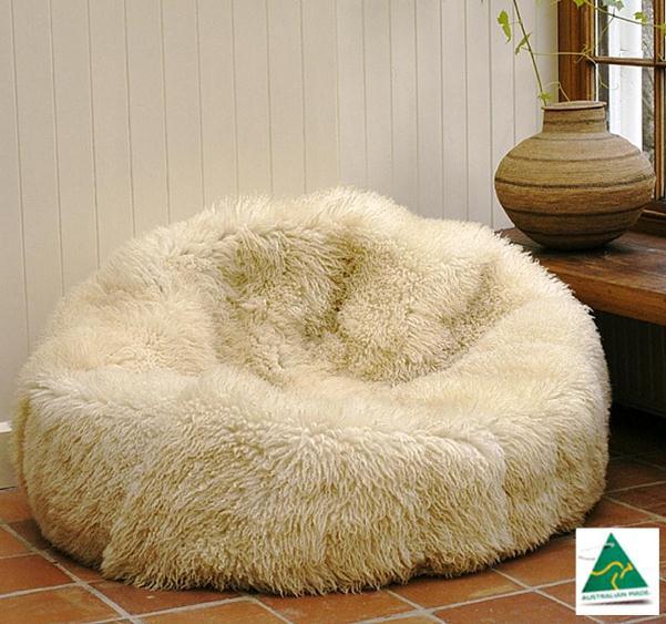 Luxury Australian Merino Sheepskin Bean Bag Mdsheepbeanbag Merino Deluxe Quality