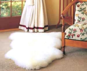 Luxury BOWRON Natural Sheepskin Rug